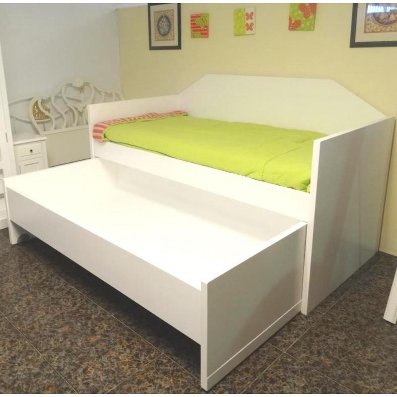 Muebles campillo cama nido for Cama nido con cajones blanca