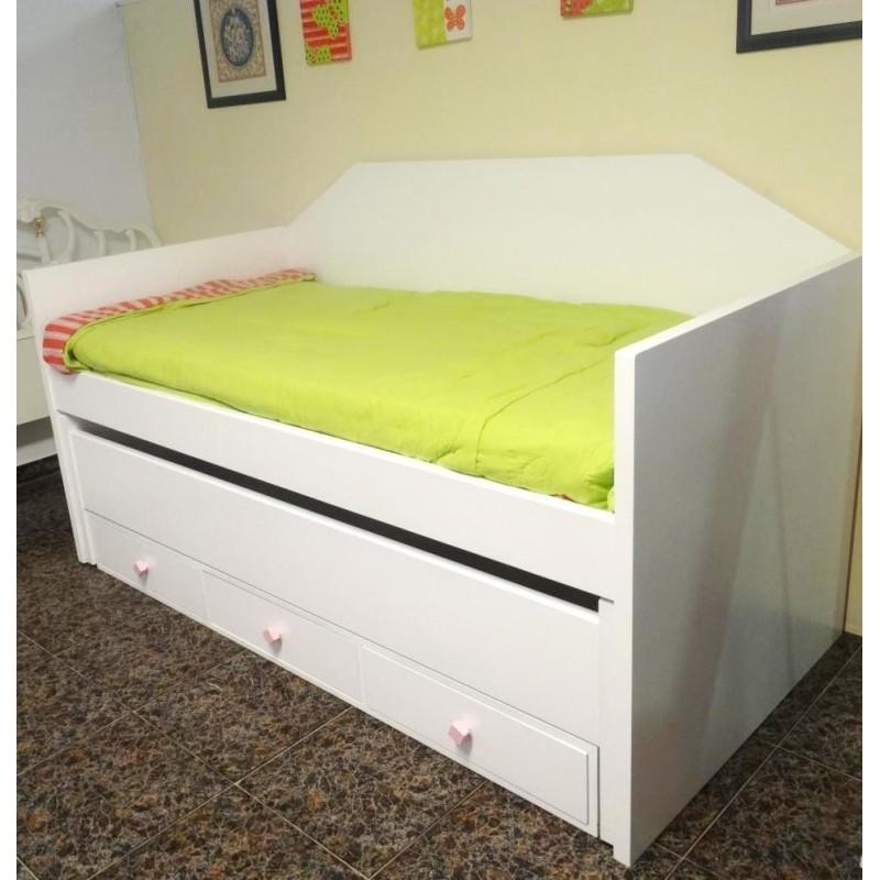Muebles campillo cama nido for Dormitorios juveniles cama nido doble