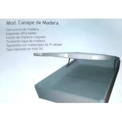 CANAPE ABATIBLE MADERA BLANCO CEREZO Y WENGUE