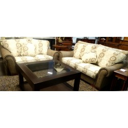 SOFAS 3 Y 2 PLAZAS  BEIGS Y MARRON
